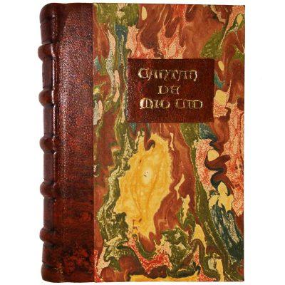 Edición monográfica de bibliofilia filatelia y bibliotelia del Mio Cid con todo el cantar del mio cid reproducido y con el sello del cid matasellado del año 2007