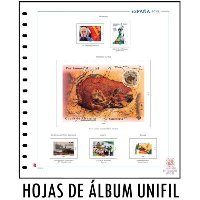 Hojas de album unifil para sellos. Hojas para sellos unifil. Suplemento unifil