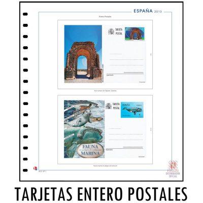 Hojas de album unifil para enteros postales de españa. Hojas de enteros postales unifil.