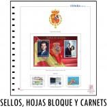 Hojas de album filatelico para sellos, hojas bloque y carnets