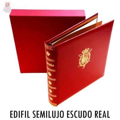 Album Edifil Semi Lujo con Escudo Real