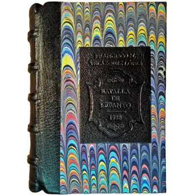 Edición monográfica de bibliofilia filatelia y bibliotelia de la Batalla de Lepanto con los sellos de la batalla de lepanto de 1938