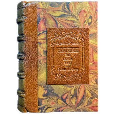 Edición monográfica de bibliofilia filatelia y bibliotelia de los caprichos de goya con los sellos de la quinta de Goya de 1930