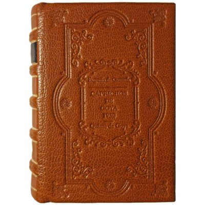 Edición monográfica de bibliofilia filatelia y bibliotelia con encuadernación en bradel. Trata sobre los caprichos de Goya e incluye los sellos de la quinta de Goya de 1930