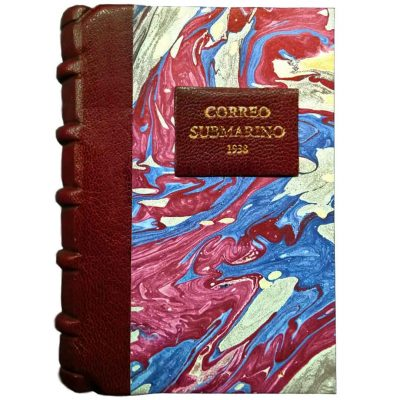 Edición monográfica de bibliofilia filatelia y bibliotelia del Correo Submarino con las pruebas de la inutilizacion de los sellos del Correo Submarino de 1938