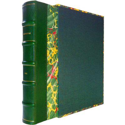 Edición conmemorativa de bibliofilia filatelia y bibliotelia, edición peregrinatio. Libro del Camino de Santiago con los sellos del románico español.
