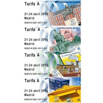 Etiquetas ATM 2016 de la Feria del Sello de Madrid. Tarifa A