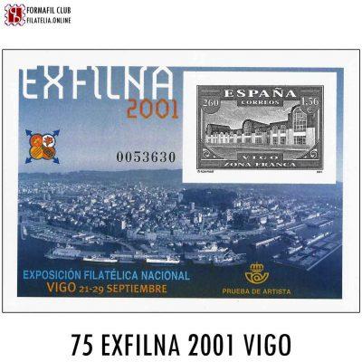 75 EXFILNA 2001 VIGO EXPOSICION FILATELICA NACIONAL