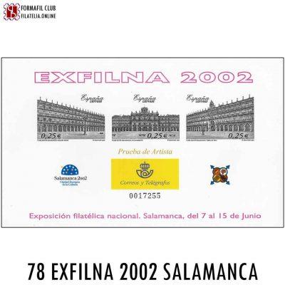 78 EXFILNA 2002 SALAMANCA EXPOSICION FILATELICA NACIONAL
