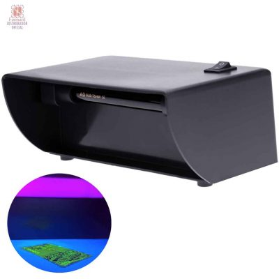 Linterna de luz UV para detectar el fósforo de los sellos, billetes falsos y documentos manipulados