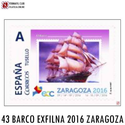 SELLO PERSONALIZADO 43 EL BARCO EXFILNA 2016 ZARAGOZA