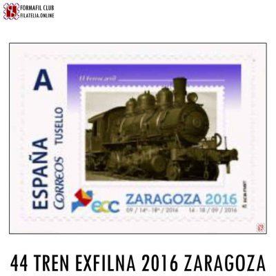 SELLO PERSONALIZADO 44 EL FERROCARRIL EXFILNA 2016 ZARAGOZA