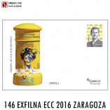 SOBRE ENTERO POSTAL 146 EXFILNA ECC 2016 ZARAGOZA