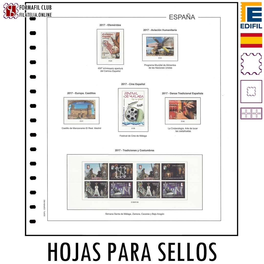 Hojas De álbum Para Sellos De España Edifil Comprar Hojas De Filatelia