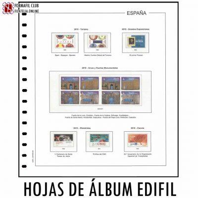 hojas de filatelia para los sellos del año edifil
