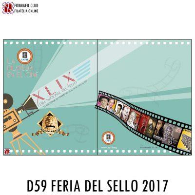 DOCUMENTO OFICIAL 59 EL CINE Y LA FILATELIA DE LA FERIA NACIONAL DEL SELLO 2017