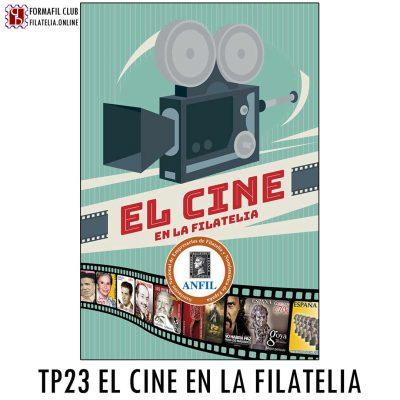 TARJETA POSTAL ANFIL 23 EL CINE Y LA FILATELIA