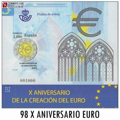 98 DECIMO ANIVERSARIO DE LA CREACION DEL EURO