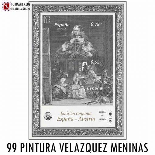 99 PINTURA OBRAS DE VELAZQUEZ EMISION CONJUNTA ESPAÑA AUSTRIA
