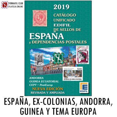catalogo para sellos de españa y colonias españolas edicion 2019