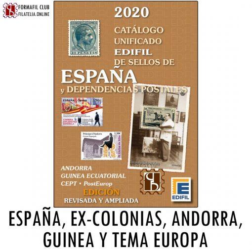 Catalogo Edifil España Excolonias Andorra Guinea 2020