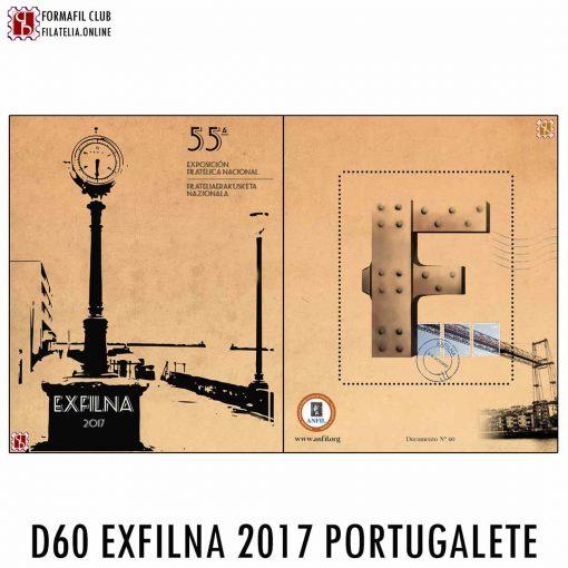 EXFILNA 2017 PORTUGALETE DOCUMENTO FILATELICO OFICIAL 60