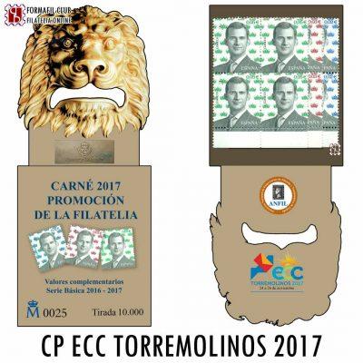 CARNE DE PROMOCION DE LA FILATELIA ECC TORREMOLINOS 2017