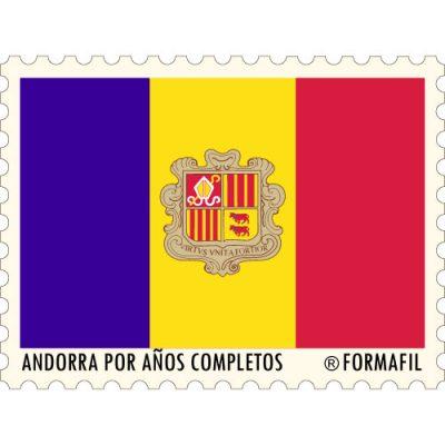 Sellos de Andorra Española por años completos