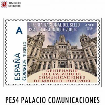 SELLO PERSONALIZADO 54 PALACIO DE COMUNICACIONES