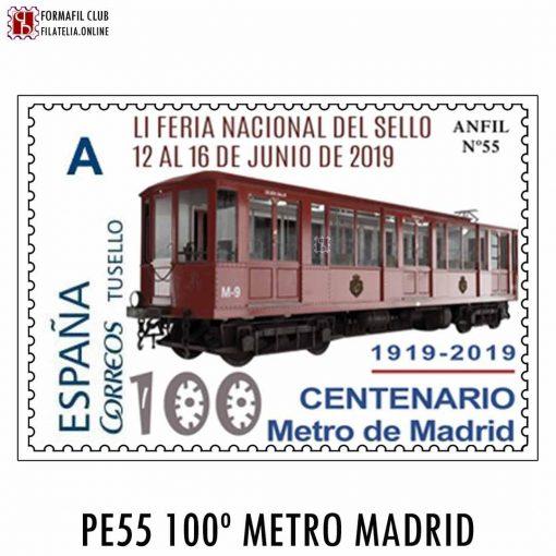 SELLO PERSONALIZADO 55 METRO DE MADRID