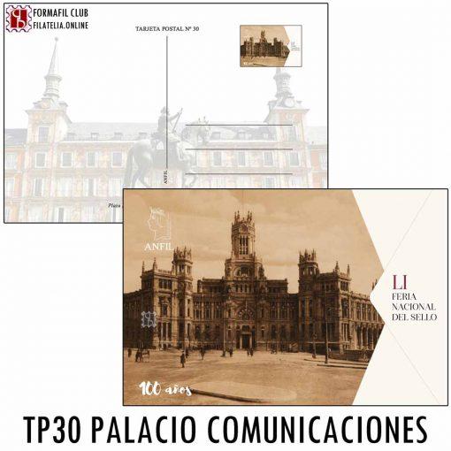 TARJETA POSTAL 30 PALACIO DE COMUNICACIONES DE MADRID