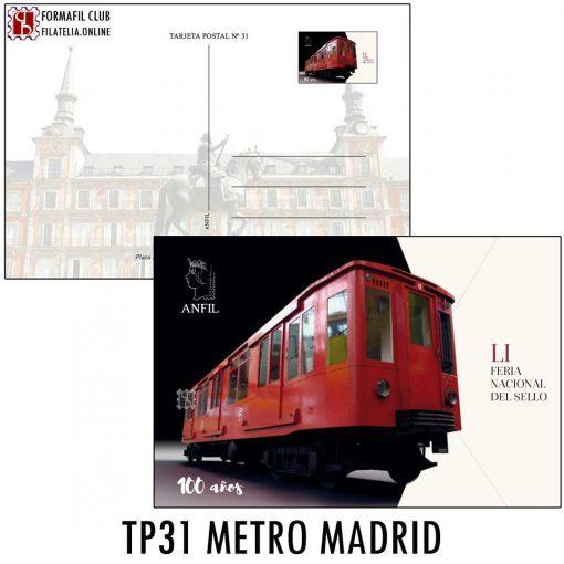 TARJETA POSTAL 31 CENTENARIO METRO MADRID