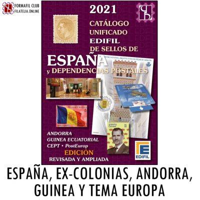 Catalogo Edifil España Excolonias Andorra Guinea 2021