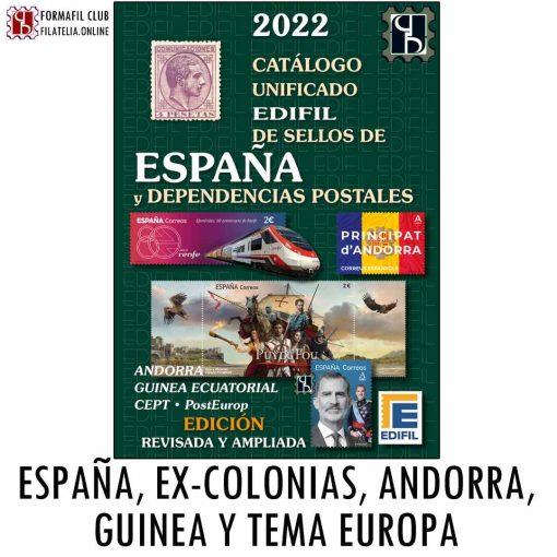 Catalogo Edifil España Excolonias Andorra Guinea 2022