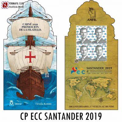 CARNE PROMOCION FILATELIA 2019 ECC SANTANDER