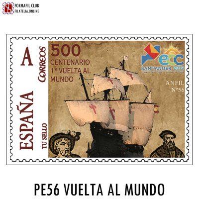 sello personalizado 56 vuelta al mundo magallanes el cano ecc santander 2019