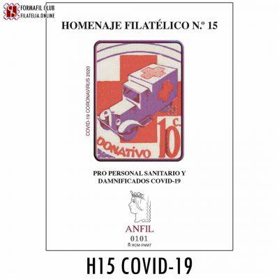 pro personal sanitario y daminificados coronavirus 19 homenaje filatelico 15 2020